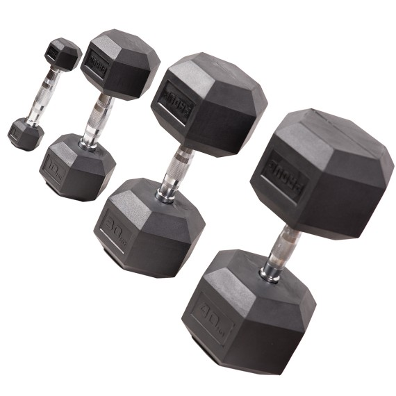 Mancuernas Hexagonales (Dumbbells)